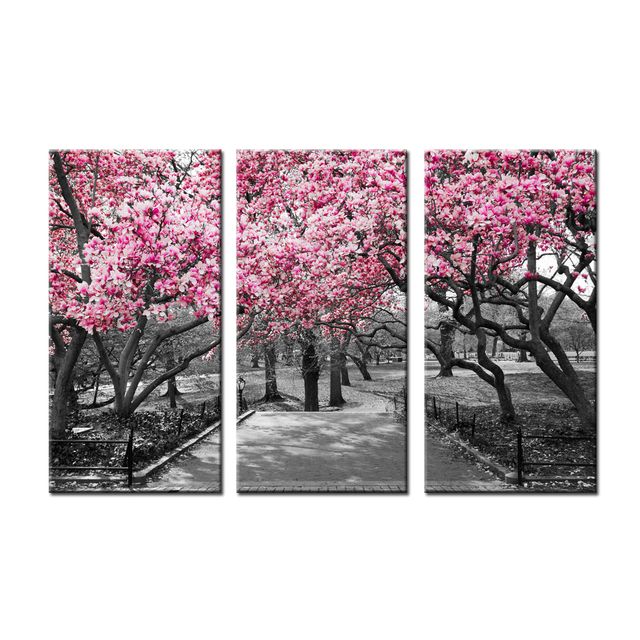 Cherry Blossom Tree Canvas Wal Art Painting For Home Decor Winter Garden  Canvas Prints Modern Landscpe