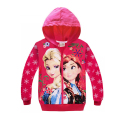 New Frozen girls sweatshirt Hoodies Zipper Kids Spring Fall Children's girls Clothes Cartoon Roupas infantis snow  printing