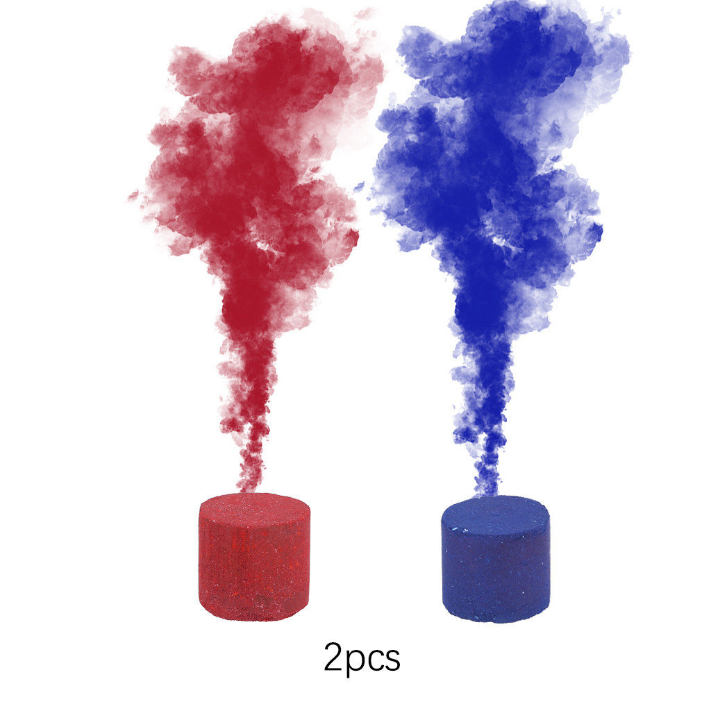 2Pcs/set colorful Smoke Pills Party Props Combustion Smog Cake Effect Smoke  Bomb Pills Portable