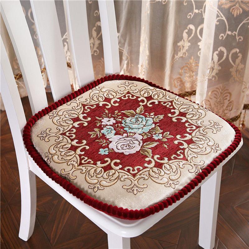 Estilo europeu cadeira coussin coussin almofada do assento de algodão para cozinha escritório cadeira travesseiro padrão flor cadeira almofadas de assento do agregado familiar