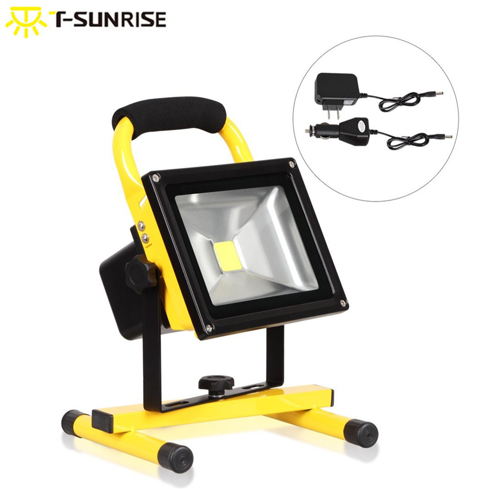 T SUNRISE LED Flood Light Rechargeable Portable for Car Tent Emergency Working Light Outdoor Waterproof Camping