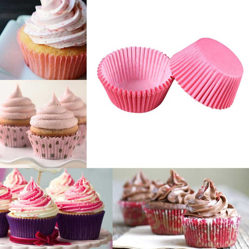 Hot Sale 100 pcs/lot Cooking Tools Grease-proof Paper Cup Cake Liners Baking Cup Muffin Kitchen Cupcake Cases Cake Mold