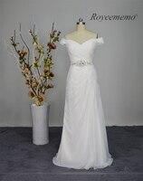 Hermosa nueva llegada de gasa playa vestido de novia