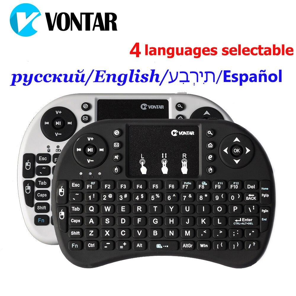 Original Normale & Backlit i8 Mini Drahtlose Tastatur Air Maus mit Russische Englisch Hebräisch Spanisch für Android TV BOX PC laptop