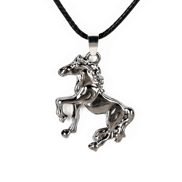 Retro stainless steel choker necklace rope chain horse pendant retro stainless steel choker necklace rope chain horse pendant necklace unisex vintage jewelry for women men mozeypictures Gallery