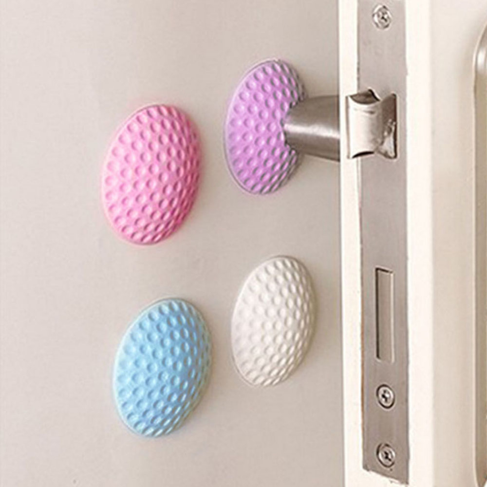 Home Decor Steady Wholesale Wall Thickening Mute Door Stickers Wall Decals Rubber Fender Handle Door Lock Protective Pad Protection Wall Decor Wall Stickers