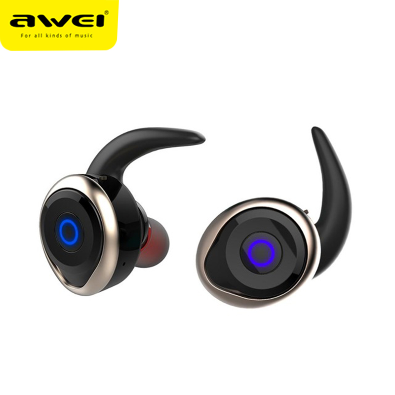AWEI <font><b>T1</b></font> <font><b>TWS</b></font> Wireless Bluetooth Earphones 3D Stereo Sound Waterproof Sports Earphone Headset Portable Earbuds With Microphone image