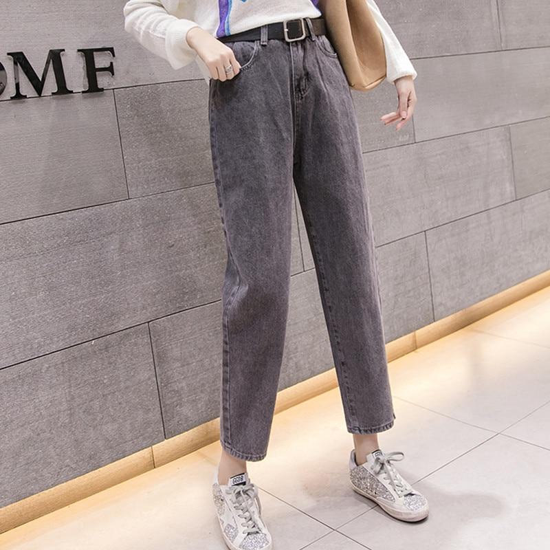 05936a506ad JUJULAND одежда дамы Высокая талия женские джинсы-бойфренды для Для женщин  брюки джинсовые рваные джинсы