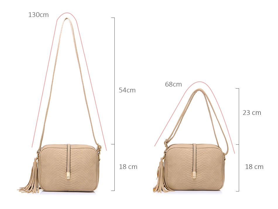 REALER brand small shoulder bag for women messenger bags ladies PU leather handbag purse tassels female crossbody bag women 2019 5