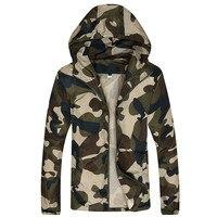 2016 New Autumn Men S Fashion Camouflage Jacket Men Tide Male Hooded Thin Camo Bomber Jackets