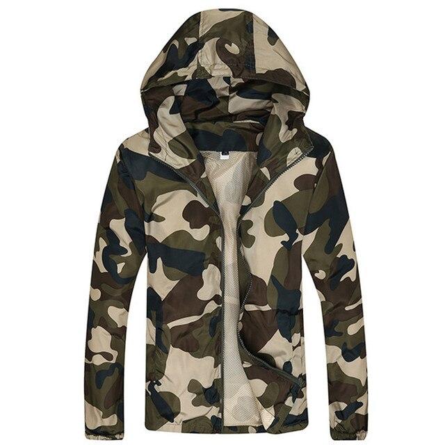 2017 New Autumn Men's Fashion Camouflage Jacket Men Tide Male Hooded Thin Camo Bomber Jackets Sunscreen Coat Jaqueta Masculina