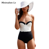 Minimalism Le Brand 2016 New Summer Solid Patchwork Lace Sexy Women Bikini Set Push Up Swimwear