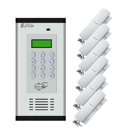 Passwort/id Karte/schlüssel/phoneset Entriegelung Multi-funktion Audio Tür Telefon/gegensprechanlage-6 Wohnung Notfall Funktion Angenehm Bis Zum Gaumen