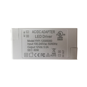 цена на 100V-240V to 12V 5A 60W LED Driver AC DC Adapter Power Supply 60 Watt Lighting Transformer for LED Lamp Strip