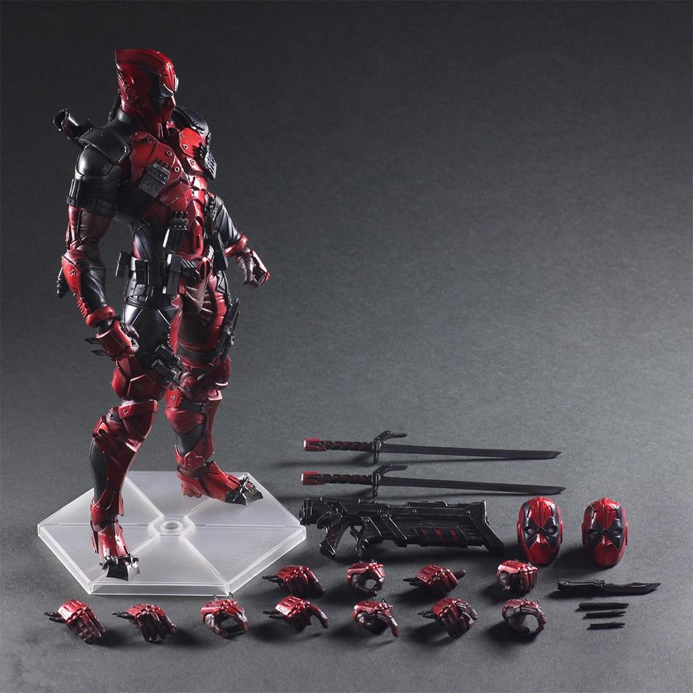 Disney Marvel X-Men 26cm Deadpool Super Hero Action Figure Posture Model Anime Decorative PVC Statue Children's Toy Model