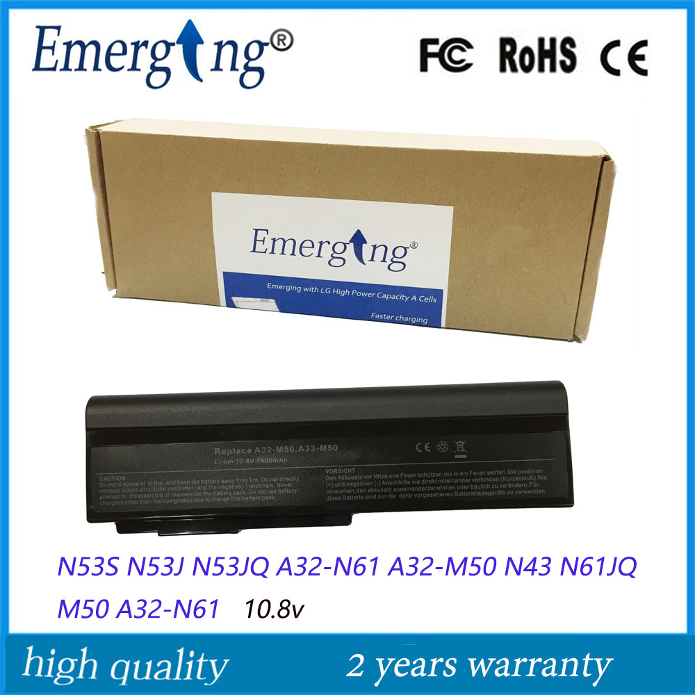 9cells New Laptop Battery for ASUS N53S N53J N53JQ A32-N61 A32-M50 N43 N61JQ M50 A32-N61