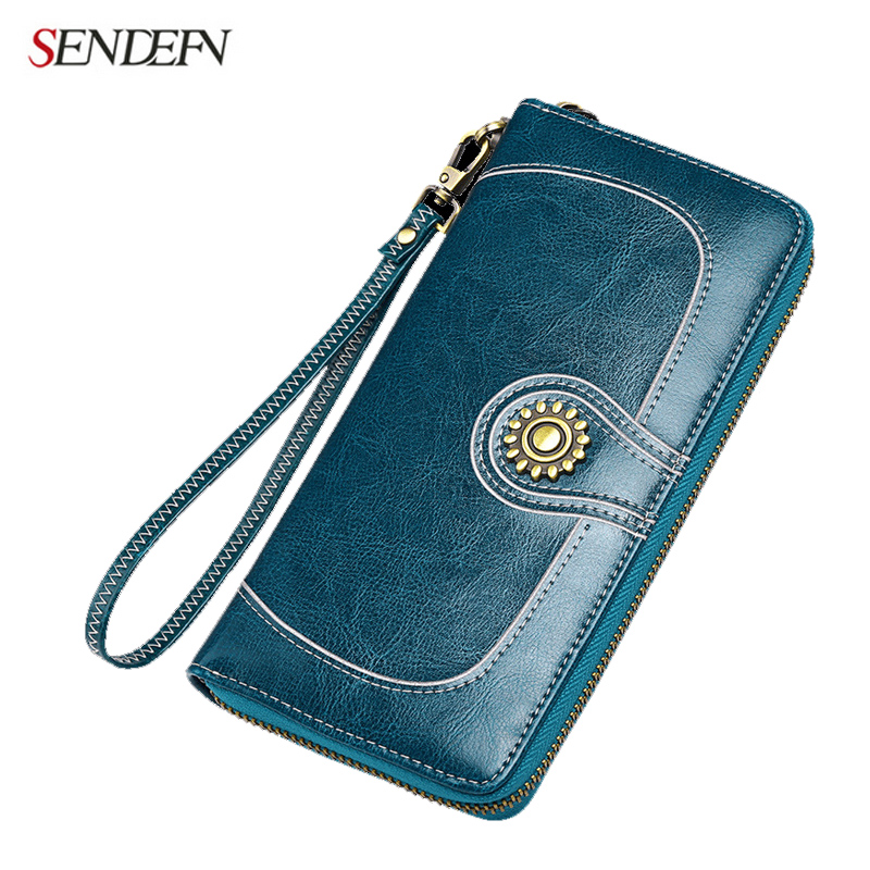 Sendefn 2017 new leather women wallets large capacity lady wallet clutch phone...