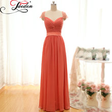 JAEDEN A Line Bridesmaid Dresses Custom Size and Color Floor Length Chiffon Elegant E092 Sweetheart Party