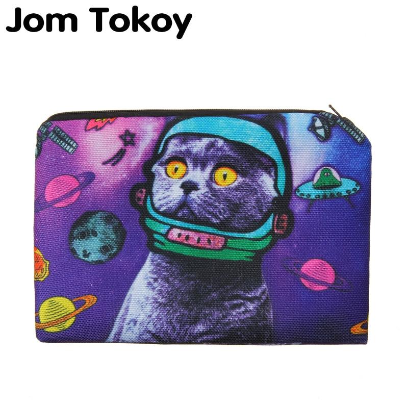Space Cat Portable Type Make Up Bags Cosmetic Case Maleta De Maquiagem Bags Storage Travel Makeup Bag Brand Pencil Case