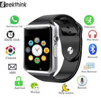 Men Women Sport Fashion Bluetooth Smart Watch Sync Notifier Support 2G SIM TF Card Connectivity Camera Smartwatch For Android