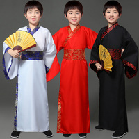 Traditional Chinese Dance Costumes For Boy Ming Opera Children Ancient Han Tang Dynasty Qing Hanfu Dress Child Kids DNV10717