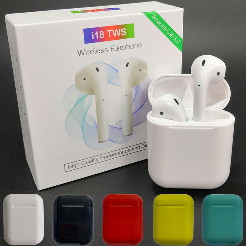 Bluetooth 5.0 <font><b>i18</b></font> <font><b>TWS</b></font> <font><b>Earphones</b></font> Earbuds Wireless Headsets 3D Sound Touch Control for iphone Xiaomi Huawei PK i10 i12 i13 i14 <font><b>TWS</b></font> image