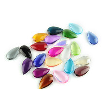 38mm 100pcs/Lot Crystal Water Drop Prism Mixed Color Glass Pendant Parts For Chandelier Suspension(China)