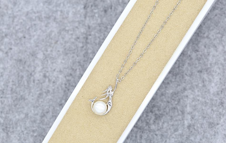 HTB19A3gkuSSBuNjy0Flq6zBpVXaa ORSA JEWELS 925 Sterling Silver Women Necklaces&Pendants Freshwater Pearls Unique Mermaid Pendants Fashion Female Jewelry PSN48