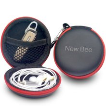New Bee Fashion Portable Earphones Case Bluetooth Earbuds Bag High Quality PU Headset Box for Apple Airpods Headphones