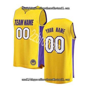 6e574235 Camiseta de baloncesto personalizada de Los Angeles, logotipo de término  universitario personalizado, bordada tu número de nombre para hombres y  mujeres