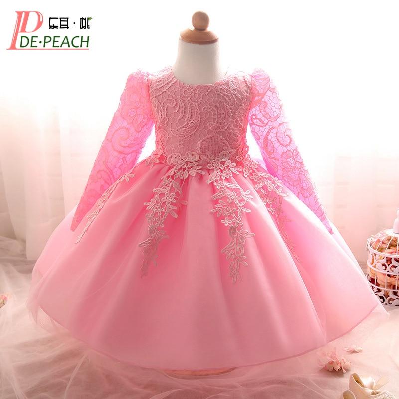 2017 Kids Girls Birthday Party Wedding Princess tutu Dress For Baby Girls Clothes Lace Flowers Children Bridesmaid Elegant Dress
