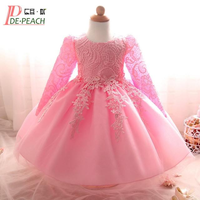 b896c2968 2018 niños niñas cumpleaños fiesta boda princesa tutú vestido para bebé  Niñas Ropa encaje flores niños
