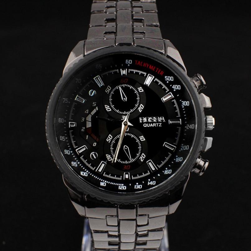 Fashion Men Watches Boutique Stainless Steel Quartz Waterproof Business Sport Clock Jewelry wholesale vF3 5