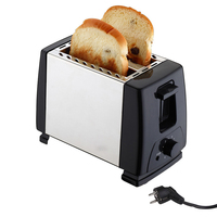 2 Slices Stainless steel toaster 750w Automatic Fast heating bread toaster Household Breakfast maker factory price