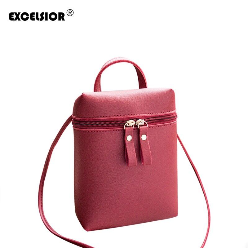 EXCELSIOR 2018 новые модные сумки на плечо Для женщин мини сумка дамы просто мягкая искусственная кожа женская сумка G1656