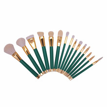 Vander 15pcs Professional Makeup Brushes Cosmetic Kit Eyebrow Blush Foundation Powder Make up Brush Set