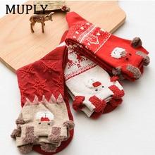New 2020 Women Sock Winter Warm Christmas Gifts Stereo Socks Soft Cotton Cute Santa Claus Deer Xmas