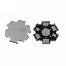 25~500pcs High Power 1w 3w 5w Watt LED Heat Sink Aluminum Base Plate 20 mm board KIT DIY high quality star heatsink