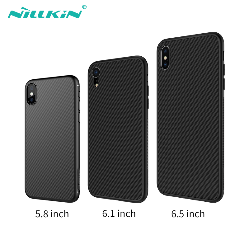 Nillkin Synthetic fiber Carbon PP Plastic Back Cover for iPhone X/Xs / Xs Max /Xr case cover ultra slim for iPhone 5.8/6.5/6.1Nillkin Synthetic fiber Carbon PP Plastic Back Cover for iPhone X/Xs / Xs Max /Xr case cover ultra slim for iPhone 5.8/6.5/6.1