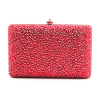 Austria imported crystal wedding cocktail evening bags gifts custom ladies day clutches diamond wedding dinner clutch purse red