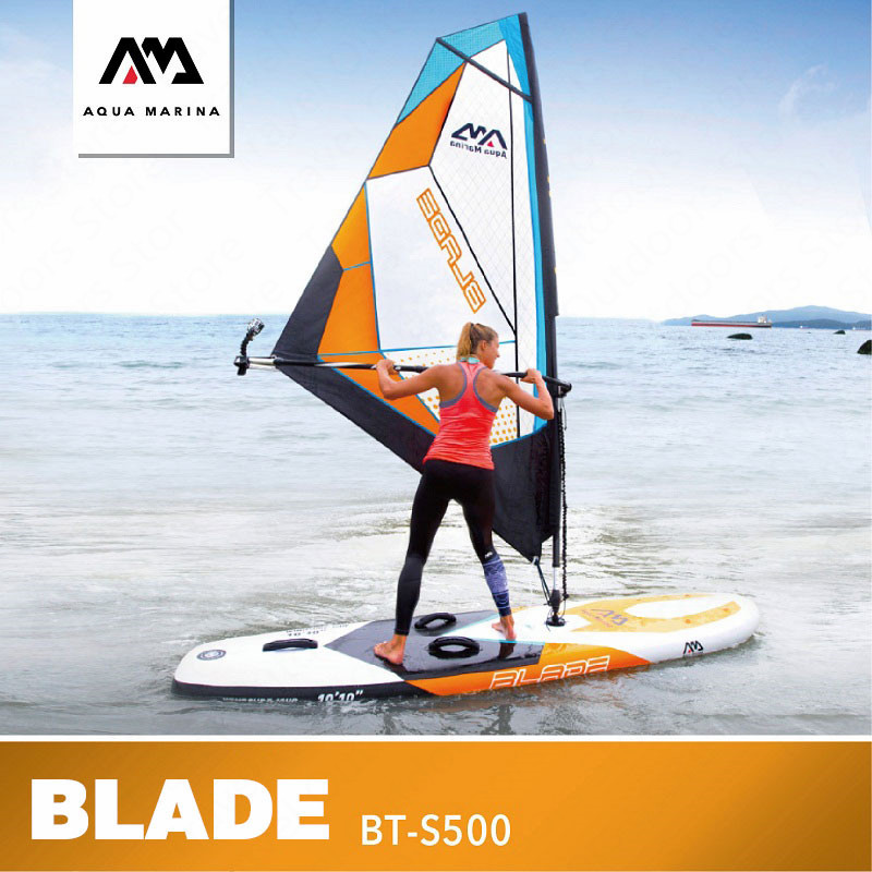 US $1199 61 35% OFF|AQUA MARINA BLADE Windsurfing Board Kiteboard SUP  Inflatable Sailboard Stand Up Paddle Boards Surfing Stroke Water Sport