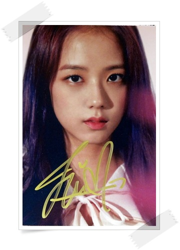 signed Blackpink Jisoo autographed group photo 6 inches freeshipping 3 versions 102017A signed tfboys autographed group photo 6 inches freeshipping 3 versions 082017 a