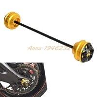 Motorcycle Rear Axle Sliders Swingarm Sliders For Suzuki GSR 750 2011 2012 2013 2014 2015