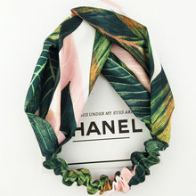 Women Spring Autumn Print Headband Vintage Cross Knot Elastic Hair Bands Turban Bandage Girls Hairbands Hair Accessories(China)