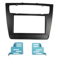 Double Din Fascia For BMW series 1 2004 2007 2011 E82 Radio CD DVD GPS Stereo Panel Dash Mounting Trim Kit Surrounded Frame