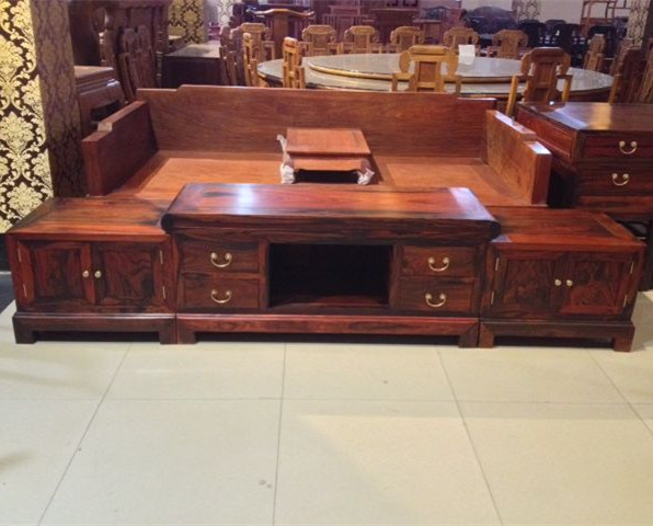 Laos Red Wood TV Cabinet / Cochin Rosewood / Red Wood TV Cabinet Antique  Mahogany Furniture