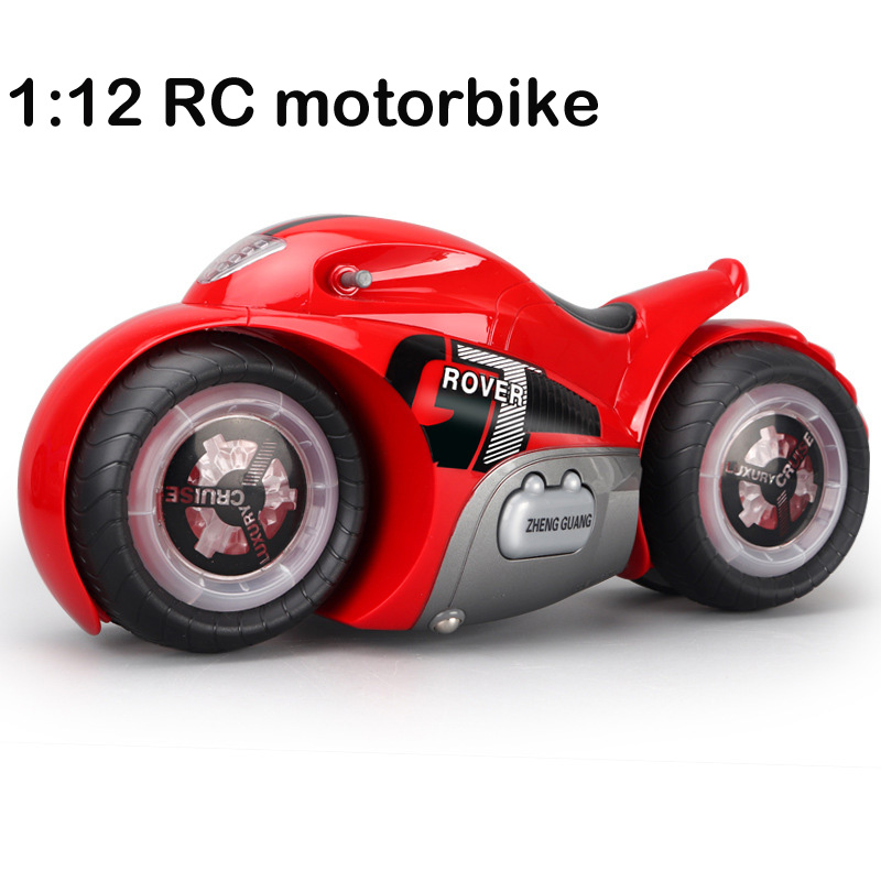 2.4G Mini stunt RC Motorcycle with music Light High Speed RC Motorbike Model Toys Remote Control Drift Motor Kids Toy for Gift