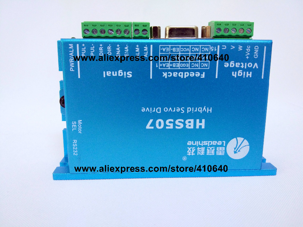 Leadshine HBS507 equal to ES-D508 updated from HBS57 Easy Servo Drive Maximum 20-50 VDC Input Voltage, and 8.0A Current leadshine hbs86 easy servo drive with maximum 20 80 vdc input voltage and 8 5a peak current