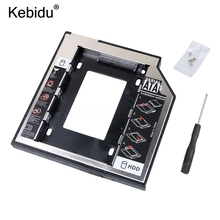 kebidu SATA to SATA 2nd HDD Caddy 9.5mm for 9mm 9.5mm SSD Case Hard Disk Drive Enclosure Bay for Notebook ODD Optibay CD-Rom