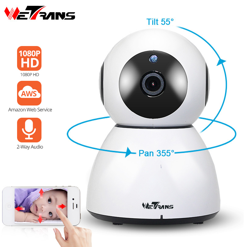 Wetrans IP Wifi Camera CCTV 1080P HD Pan 355 Degree Wireless Smart Home Camera Wi-Fi Security Surveillance IR Night Vision Alarm wetrans wireless camera ip wi fi light bulb hd 3mp led security smart cctv camera panoramic wi fi alarm p2p audio night vision